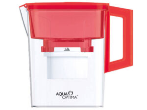 Aqua-Optima-Water-Jug-2.1Lt-&-30-Day-Filter-Compact-Red-(AMF002R)